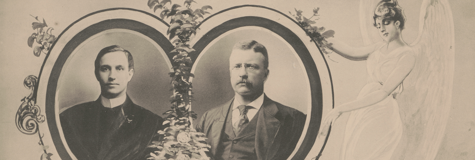 """The victory of the right"" (Poem with portraits of Theodore Roosevelt and John Mitchell), 1902"